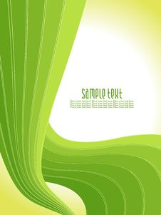 Free Abstract Green Wave Background Royalty Free Stock Photos - 15235288