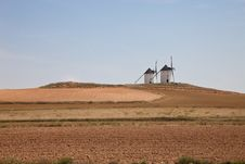 Free Windmills In Spain Royalty Free Stock Image - 15235296