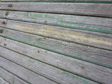 Old Bench Wood Detail Royalty Free Stock Images