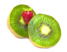 Free Kiwi And Strawberry Stock Image - 15235341
