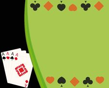 Free Background For Poker Royalty Free Stock Photography - 15236317