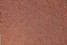 Red Playground Cement Floor Stock Image