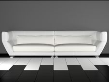 Free Modern White Sofa Stock Photography - 15237562