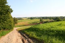 Free Road And Field In Lithuania Stock Photos - 15238303