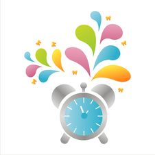 Free Colorful Clock Background Royalty Free Stock Images - 15238469