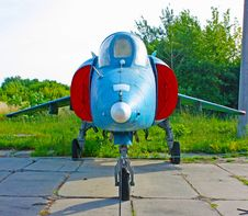 Fighter Airplane Under Sky Royalty Free Stock Image