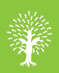Abstract Hand Tree Stock Photos