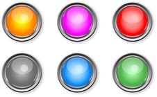 Free Glossy Buttons Royalty Free Stock Photo - 15240695