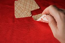Player Hold Poker Cards Stock Image
