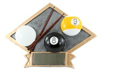 Free Billiards Plaque Royalty Free Stock Image - 15242176