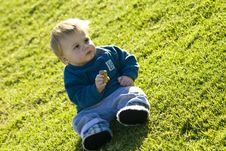 Child Enjoying The Sun Royalty Free Stock Photo
