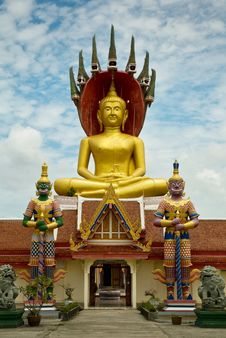 Free Large Golden Buddha Stock Images - 15243084