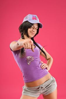 Free Hip Hop Girl Royalty Free Stock Photography - 15243637