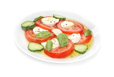 Bocconcini And Tomato Salad Royalty Free Stock Photo