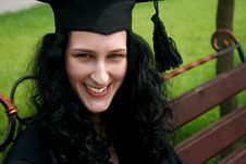 Smiling Caucasian Student Stock Images
