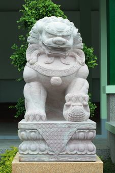 Free Chinese Lion Statue Stock Photo - 15244490