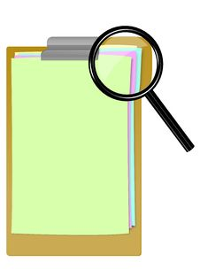 Free Searching On A Clipboard Stock Image - 15244571
