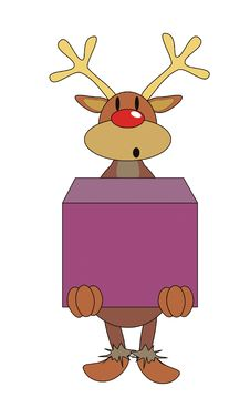 Free Deer With A Box Royalty Free Stock Photos - 15245048
