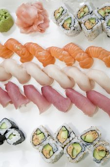 Free Assorted Sushi Royalty Free Stock Photos - 15245498