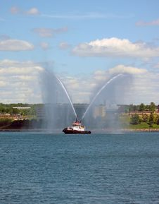 Harbor Tug Boat Stock Image