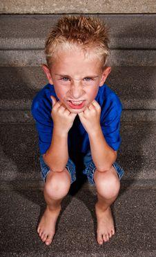 Free Angry Boy Stock Photos - 15246243