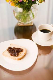 Free Romantic Breakfast With Coffee Royalty Free Stock Photos - 15247318
