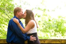 Free Kissing In The Park Royalty Free Stock Image - 15247366