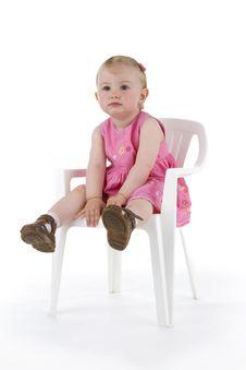 Free Toddler On Stool Stock Image - 15248201