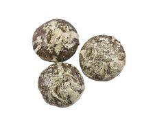 Three Chocolate Cakes Isolatedon The White Royalty Free Stock Image