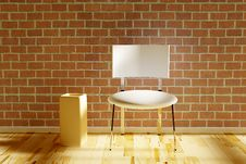 Free White Chair With Vase Royalty Free Stock Photography - 15248847