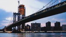 Free New York City Bridge On Morning Royalty Free Stock Photo - 152453495