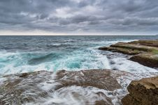 Free Stormy Ocean With Unrest Sea And Waves Stock Photography - 152453522