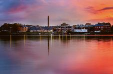 Free Autumn Sunset Over Riga Stock Photos - 152453543