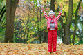 Free Young Happy Girl In Autumn Park Royalty Free Stock Image - 15251396