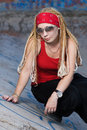Free Rapper Girl Posing Outdoors Royalty Free Stock Photography - 15252457
