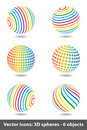 Free Set Of Sphere Rainbow Icons Royalty Free Stock Images - 15252929