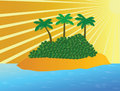 Free Tropical Island In Ocean Royalty Free Stock Photography - 15253007