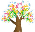 Free Vector Abstract Tree Royalty Free Stock Images - 15255519