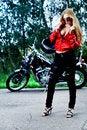 Free Posing Biker Stock Photography - 15259812