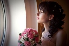 Portrait Of A Bride For A Moment Before ... Royalty Free Stock Photography