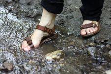 Free Washing Shoes Royalty Free Stock Photo - 15250705