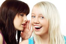 Free Two Girls Whispering Royalty Free Stock Photography - 15251047