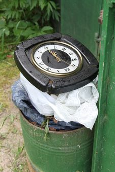 Free Time Is Garbage Stock Photography - 15251112