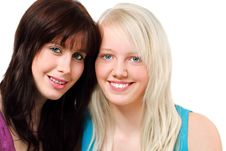 Free Two Girls Portrait Royalty Free Stock Photo - 15251245