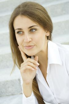 Young Businesswoman Wondering Royalty Free Stock Photos
