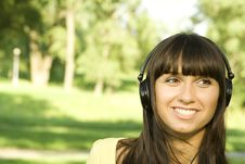 Free Young Woman Listening To Music Stock Photo - 15251780