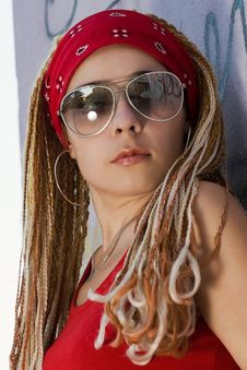 Free Young Female Hipster In Red Stock Photo - 15252360