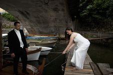 Free Wedding Couple On Vessel Royalty Free Stock Photos - 15252808