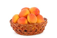 Free Apricots In A Basket Stock Photos - 15253093