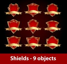 Free Shields Set Royalty Free Stock Photography - 15253167